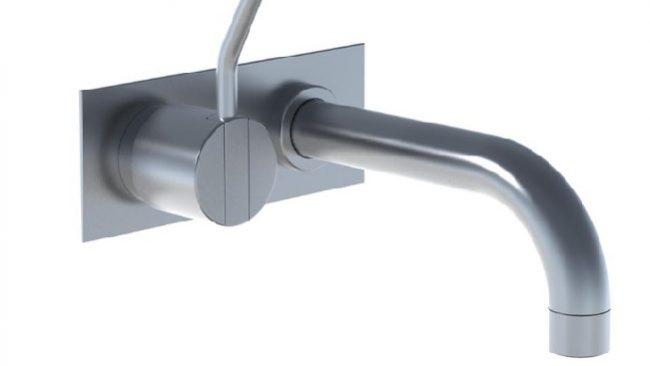 Vola Monoknop inbouw badmengkraan met vaste baduitloop 160 mm 2112CM